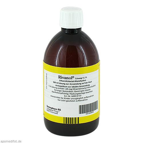 RIVANOL LOESUNG 0.1%, 500 ML, Dermapharm AG