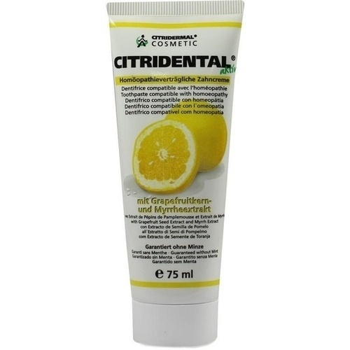 Citridental-Zahncreme, 75 ML, Sanitas GmbH & Co. KG