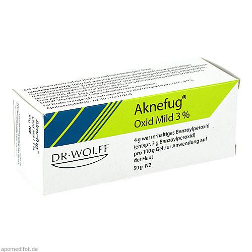 AKNEFUG-OXID MILD 3%, 50 G, Dr. August Wolff GmbH & Co. KG Arzneimittel