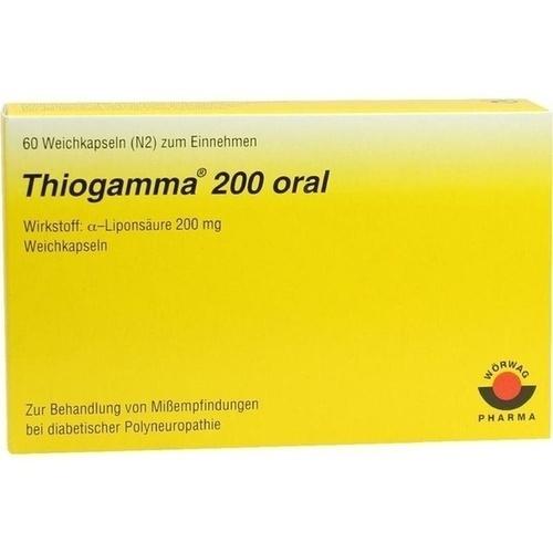 THIOGAMMA 200 oral Weichkapseln, 60 ST, Wörwag Pharma GmbH & Co. KG