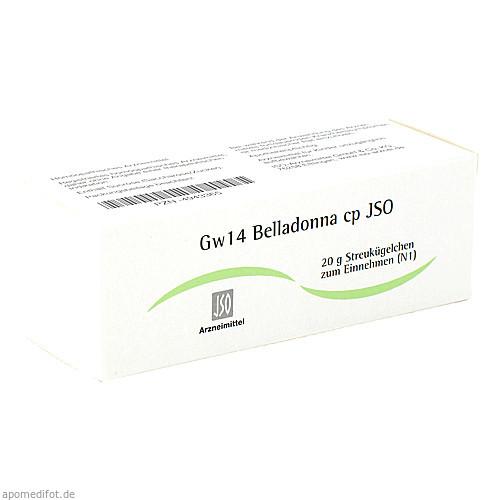JSO JKH GEWEBEMITTEL Gw 14 Belladonna cp Globuli, 20 G, ISO-Arzneimittel GmbH & Co. KG