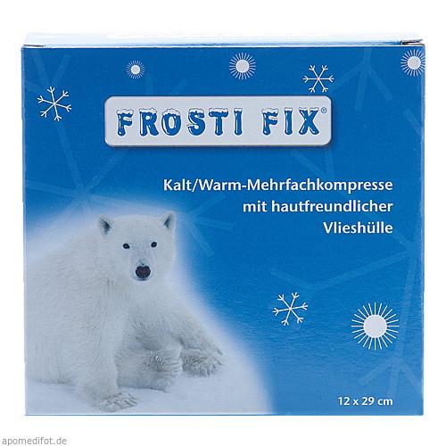 KALT-WARM Kompresse FrostiFix 12x29 cm blau Vlies, 1 ST, Dr. Ausbüttel & Co. GmbH