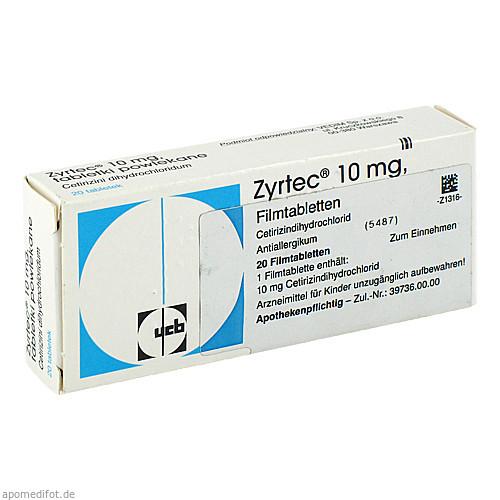 ZYRTEC, 20 ST, kohlpharma GmbH