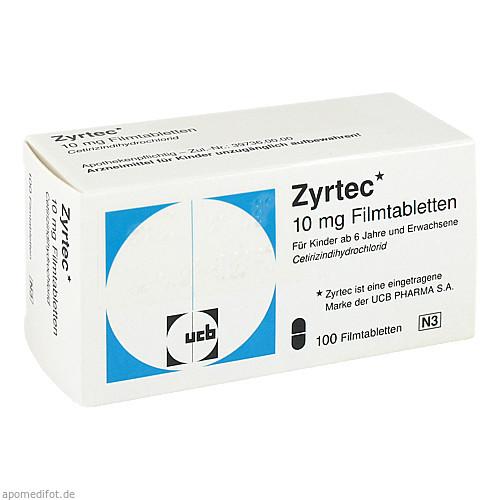 ZYRTEC, 100 ST, kohlpharma GmbH