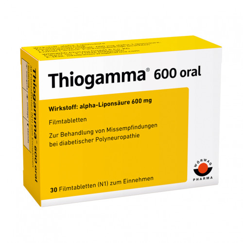 THIOGAMMA 600 ORAL, 30 ST, Wörwag Pharma GmbH & Co. KG