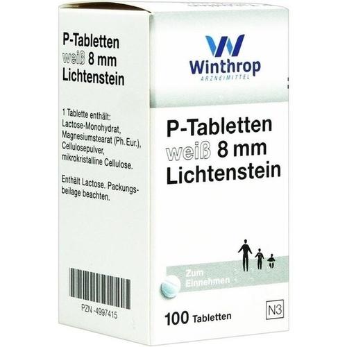 P TABLETTEN WEISS 8MM LICHTENSTEIN, 100 ST, Zentiva Pharma GmbH