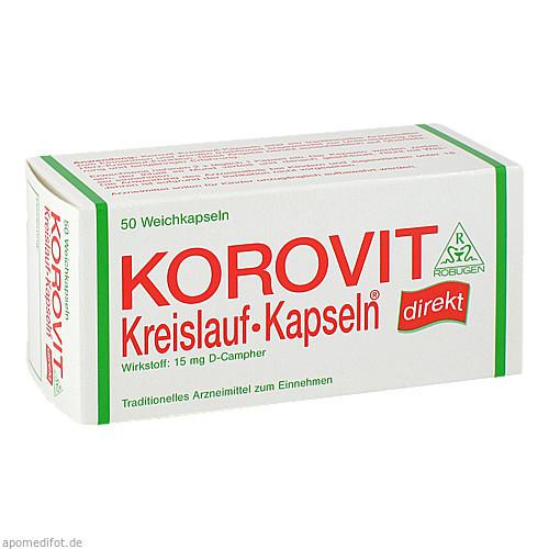 Korovit Kreislauf-Kapseln, 50 ST, Robugen GmbH Pharmazeutische Fabrik