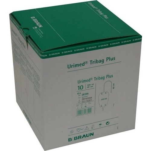 Urimed Tribag Plus Urin-Beinbtl.500ml unster 80cm, 10 ST, B. Braun Melsungen AG