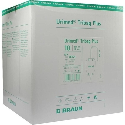 Urimed Tribag Plus Urin-Beinbtl.800ml steril 40cm, 10 ST, B. Braun Melsungen AG