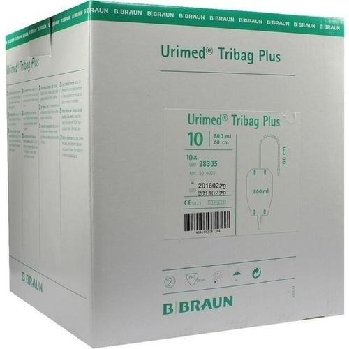 Urimed Tribag Plus Urin-Beinbtl.800ml steril 60cm, 10 ST, B. Braun Melsungen AG