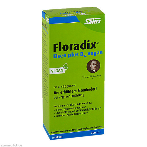 FLORADIX Eisen plus B12 vegan Tonikum, 250 ML, SALUS Pharma GmbH