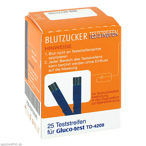 Gluco-test Blutzuckerteststreifen, 25 ST, Aristo Pharma GmbH
