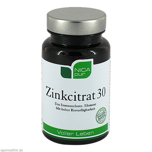 NICApur Zinkcitrat 30, 60 ST, Nicapur Supplements GmbH & Co. KG