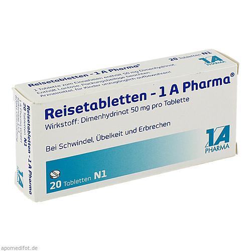 Reisetabletten-1 A Pharma, 20 ST, 1 A Pharma GmbH