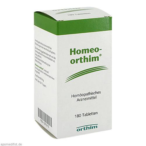Homeo-orthim, 180 ST, Orthim GmbH & Co. KG