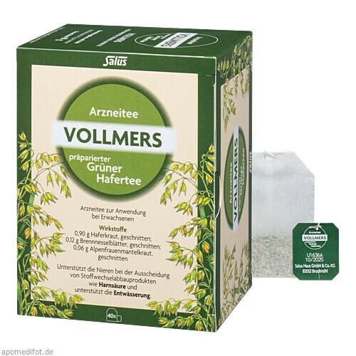 Vollmers präparierter Grüner Hafertee, 40 ST, Salus Pharma GmbH