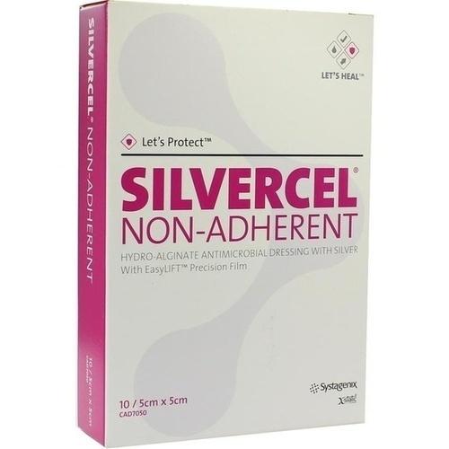 SILVERCEL Non-Adherent 5x5cm, 10 ST, Kci Medizinprodukte GmbH