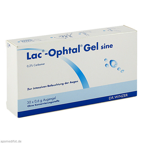Lac-Ophtal Gel sine, 30X0.6 ML, Dr. Winzer Pharma GmbH