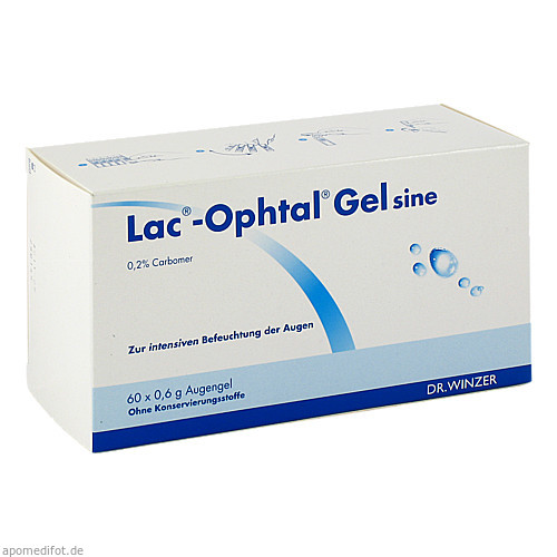 Lac-Ophtal Gel sine, 60X0.6 ML, Dr. Winzer Pharma GmbH