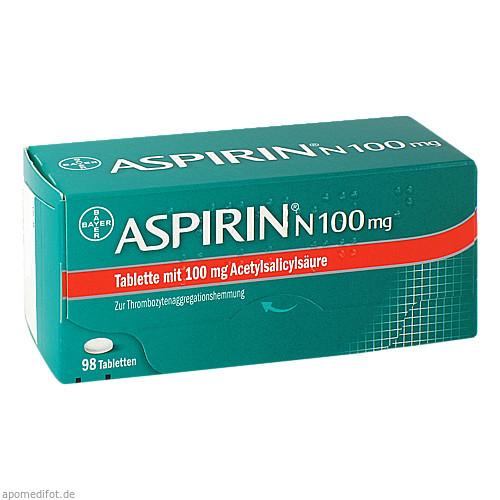 ASPIRIN N 100mg, 98 ST, Bayer Vital GmbH GB Pharma
