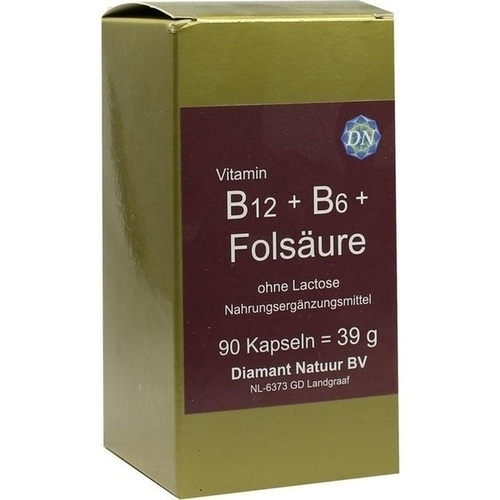B12 + B6 + Folsäure ohne Lactose, 90 ST, Diamant Natuur B.V.
