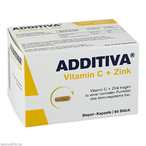 ADDITIVA Vitamin C + Zink Depotkaps.Aktionspackung, 80 ST, Dr.B.Scheffler Nachf. GmbH & Co. KG