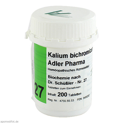 Biochemie Adler 27 Kalium bichrom D12 Adler Pharma, 200 ST, Adler Pharma Produktion und Vertrieb GmbH