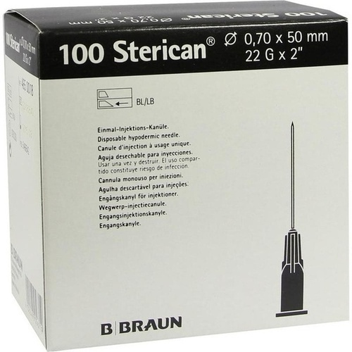 Sterican Kanüle 22Gx2 0.70x50, 100 ST, B. Braun Melsungen AG