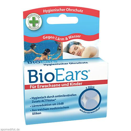 BioEars Antimikrobielle Silikon-Ohrstöpsel, 6 ST, Cirrus Healthcare Products
