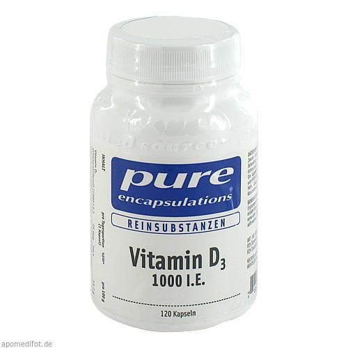 PURE ENCAPSULATIONS Vitamin D3 1000 I.E., 120 ST, PRO MEDICO HANDELS GMBH