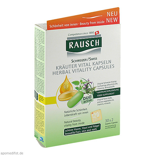 RAUSCH KRÄUTER VITAL Kapseln, 30X2 ST, Rausch (Deutschland) GmbH