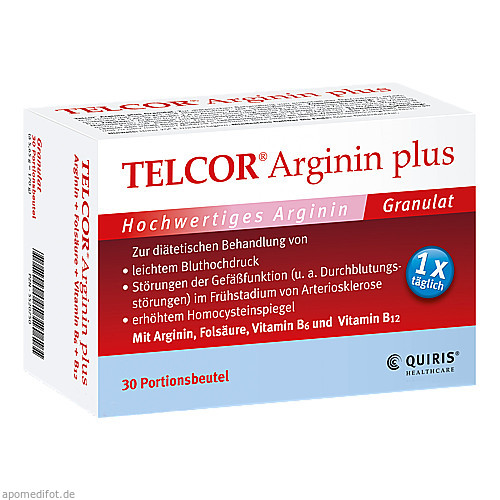TELCOR Arginin plus Btl., 30 ST, Quiris Healthcare GmbH & Co. KG
