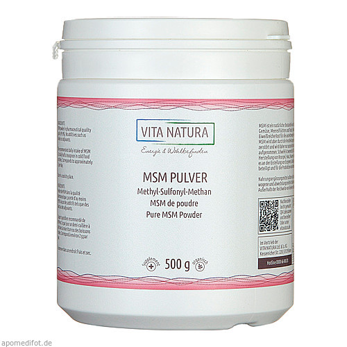 MSM Pulver Methylsulfonylmethan, 500 G, Vita Natura GmbH & Co. KG