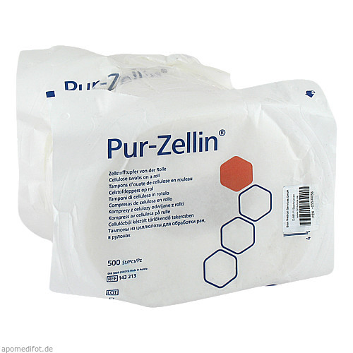 Pur Zellin 4x5cm unsteril Rolle zu 500St., 2X500 ST, Bios Medical Services GmbH
