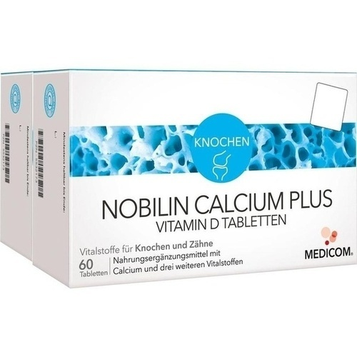 Nobilin Calcium Plus Vitamin D, 2X60 ST, Medicom Pharma GmbH