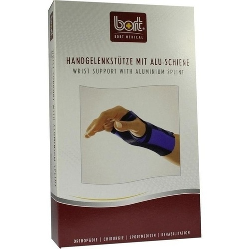 BORT Handgelenkstütze Aluschiene re schwarz xs, 1 ST, Bort GmbH