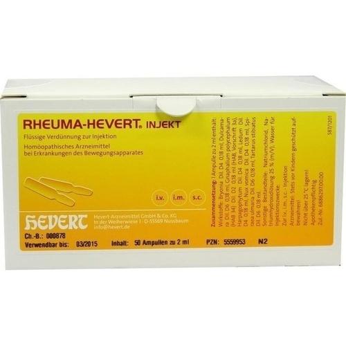 Rheuma-Hevert injekt, 50X2 ML, Hevert Arzneimittel GmbH & Co. KG