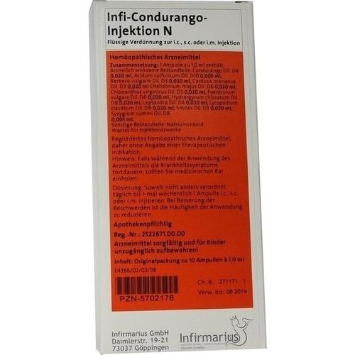 Infi-Condurango-Injektion N, 10X1 ML, Infirmarius GmbH