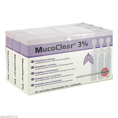 MucoClear 3% NaCl Inhalationslösung, 60X4 ML, Pari GmbH