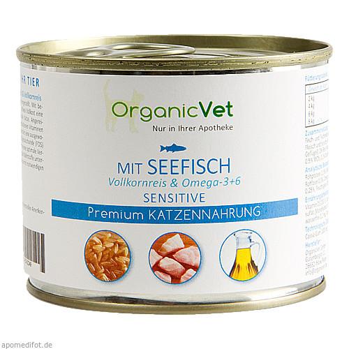 Dosennahrung Katze Sensitive Seefisch, 200 G, Organicvet GmbH
