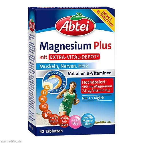 Abtei Magnesium Plus mit Extra Vital Depot, 42 ST, Omega Pharma Deutschland GmbH