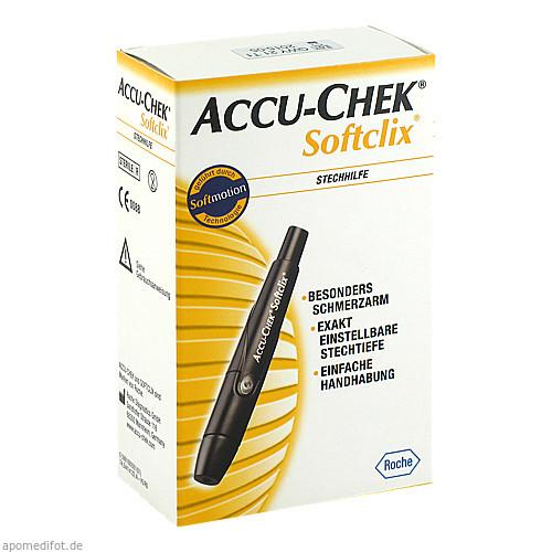 Accu-Chek Softclix (schwarz), 1 ST, Roche Diabetes Care Deutschland GmbH