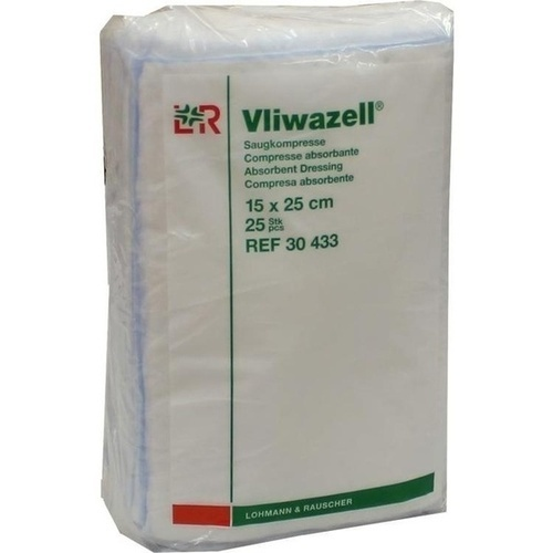 Vliwazell Kompressen 15x25cm unsteril, 25 ST, Lohmann & Rauscher GmbH & Co. KG
