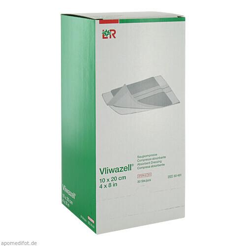 Vliwazell Kompressen 10x20cm steril, 30 ST, Lohmann & Rauscher GmbH & Co. KG