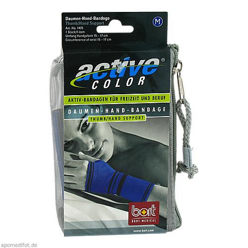 BORT ActiveColor Daumen-Hand-Bandage blau medium, 1 ST, Bort GmbH