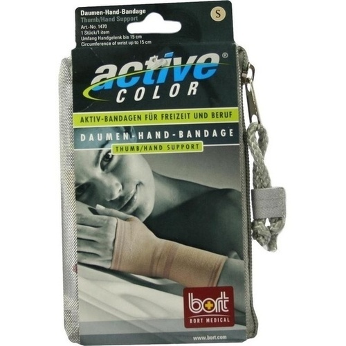BORT ActiveColor Daumen-Hand-Bandage haut small, 1 ST, Bort GmbH