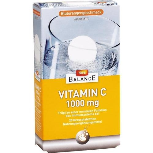 GEHE BALANCE Vitamin C 1000mg Brausetabletten, 2X10 ST, Gehe Pharma Handel GmbH