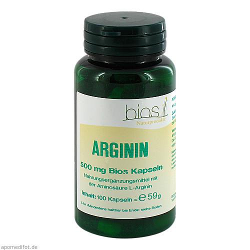 Arginin 500mg Bios Kapseln, 100 ST, Bios Medical Services