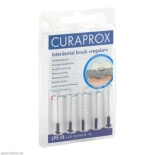 CURAPROX CPS18 Interdental 2-8mm, 5 ST, Curaden Germany GmbH