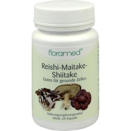 REISHI-MAITAKE-Shitake-Kapseln gutes f.ges.Zellen, 60 ST, Floramed GmbH